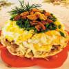 Салат из курочки и маринованных грибов Веранда