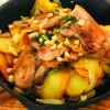 Картофель жареный с подчеревком Веранда