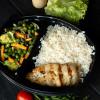 Курица - гриль с рисом басмати и с салатом из сезонных овощей Вареники