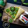 Арахисовая паста + nutella + соленая карамель + киви Кес Кьо Блинчики