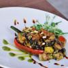 Салат из овощей гриль с соусом песто из петрушки Небо