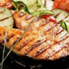 Стейк из лосося на гриле Шампуроff