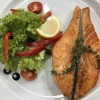Сочный стейк из лосося Мясо Хаус