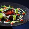 Салат из овощей гриль с соусом рокфор Небо
