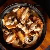 Деруны картофельные, запеченные с курицей и грибами в сливочном соусе Вареники