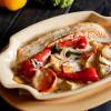 Лосось запеченный с овощами в горчичном соусе Вареники