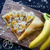 Банан + пюре манго-маракуйя + миндальные хлопья Кес Кьо Блинчики