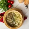Куриный суп-лапша с мясом и потрошками Вареники