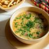 Суп гороховый с копченостями Вареники