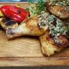 Поджаренная половинка цыпленка с ореховой пастой Мясо Хаус