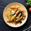Картофель, запеченный с подчеревком и чесноком Вареники