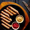 Колбаски Охотничьи с хреном и горчицей Вареники