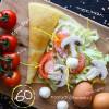 Рафаэлло по-узбекски с грибами и помидором Кес Кьо Блинчики