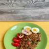 Кордон блю  и рис с овощами Family Palace