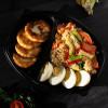 Кус-кус с овощами, отварными яйцами и творожные сырники Вареники