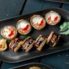 Темпура лосось и сыр Инь-Янь
