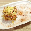 Салат с копченой колбаской и сухариками Lunch Cafe (Ланч Кафе)