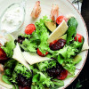 Салат с креветками  Филижанка