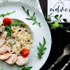Фетучинни с грибочками и курочкой в сливочном соусе с пармезаном Филижанка