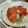 С лососем, соусом из крилем и помидорами Филижанка