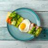 Блинчик с ветчиной, яйцом, авокадо, моцареллой, сливочным соусом и зеленью Пиццерия на Спасской