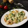 Картофель запеченный с сыром моцарелла, сливками и луком порей Dinapoli