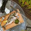 Дорадо (сибас) с зеленым соусом Family Palace