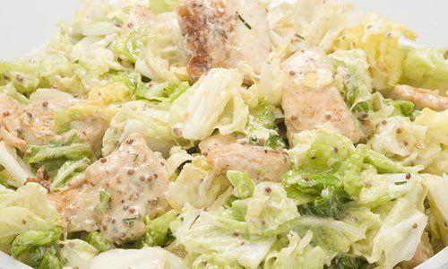 Теплый салат с курицей и пекинской капустой Кумир
