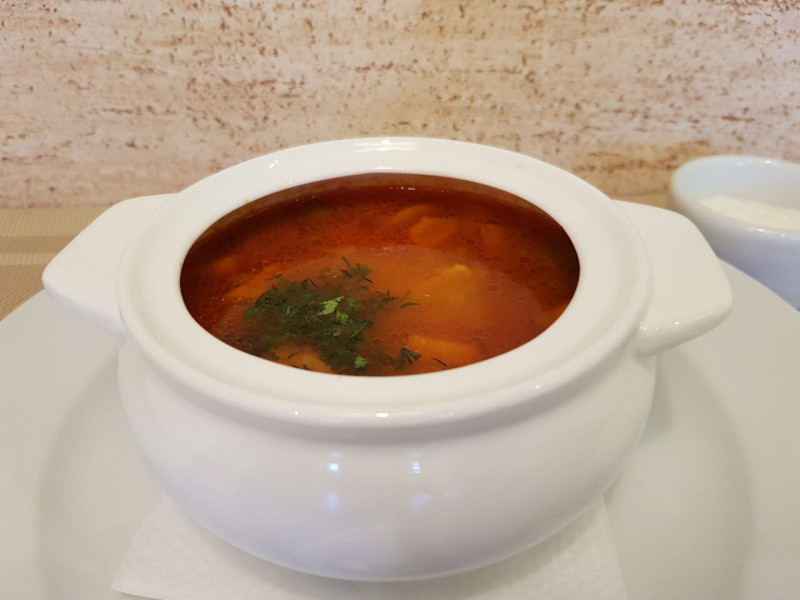 Грибная солянка Lunch Cafe (Ланч Кафе)