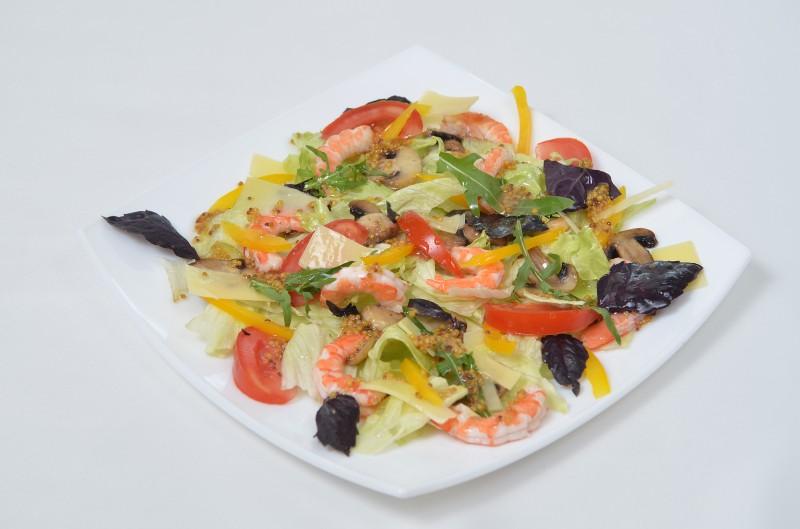 Микс-салат с креветками Кумир