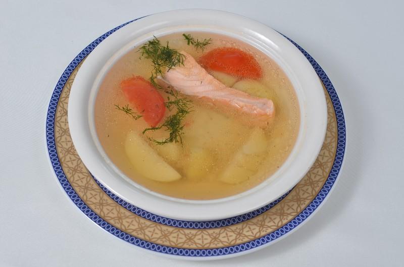 Суп с нежной семгой Кумир